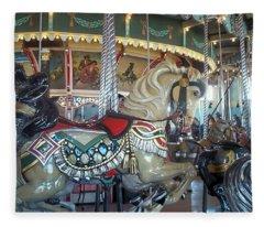 Paragon Carousel Nantasket Beach Fleece Blanket