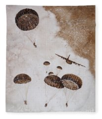 Paratroopers Fleece Blanket