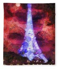Paris Night Fleece Blanket