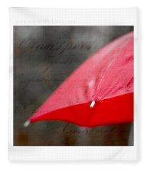 Paris Rains Original Signed Mini Fleece Blanket
