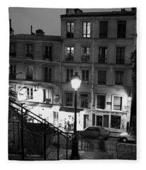 Paris-steps-montmartre Fleece Blanket