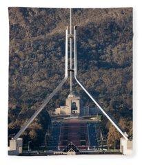 Parliament And War Memorial Australia Fleece Blanket