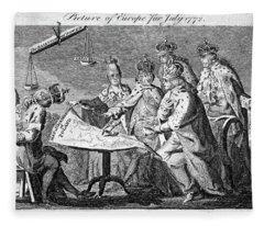 Partition Of Poland, 1772 Fleece Blanket