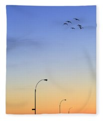 Sky Photographs Fleece Blankets