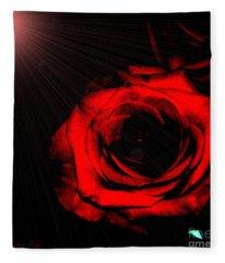 Passion. Red Rose Fleece Blanket