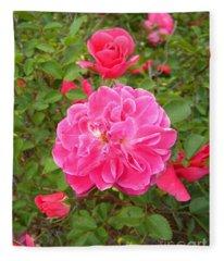 Passionate Pink Springtime Fleece Blanket