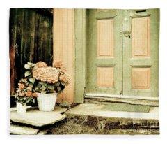 Pastel Colored Doorstep Fleece Blanket