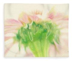 Pastel Pink Zinnia Fleece Blanket