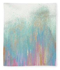 Pastel Teal Woods Fleece Blanket