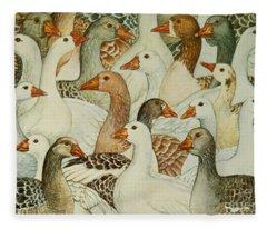 Patchwork Geese Fleece Blanket