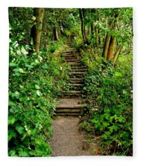 Path Into The Forest Fleece Blanket
