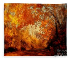 Path Of Gold Fleece Blanket