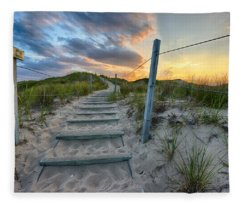 Path Over The Dunes Fleece Blanket