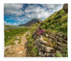 Path To Lake Idwal Fleece Blanket