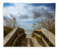 Pathway To Paradise Fleece Blanket