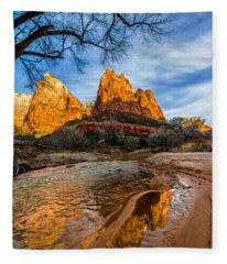 Patriarchs Of Zion Fleece Blanket