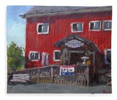 Patricia's Back Barn Fleece Blanket