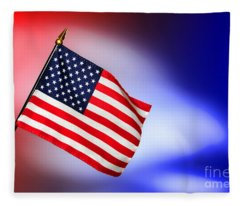 Patriotic American Flag Fleece Blanket