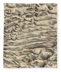 Patterns In Sand 3 Fleece Blanket