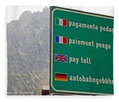 Pay Toll Italy Fleece Blanket