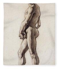 Male Nude Fleece Blanket