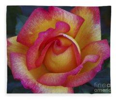 Peace In Floral Format Fleece Blanket