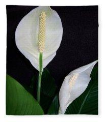 Peace Lilies Fleece Blanket