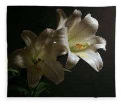 Peace Lily Fleece Blanket