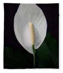 Peace Lily Fleece Blanket