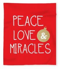Christmas Card Fleece Blankets