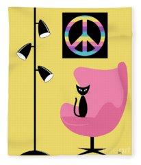 Peace Symbol Fleece Blanket