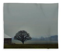 Peaceful Country Morning Fleece Blanket