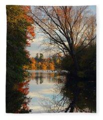 Peaceful October Afternoon Fleece Blanket