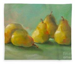 Peaceful Pears Fleece Blanket