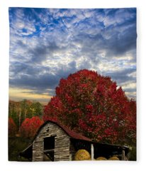 Pear Trees On The Farm Fleece Blanket