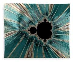Pearly Mandelbrot Fleece Blanket