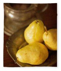 Pears And Great Grandpa's Silver Fleece Blanket
