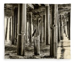 Peeking Under The Pier By Diana Sainz Fleece Blanket