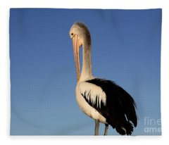 Pelican Alone Fleece Blanket