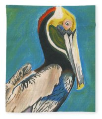 Pelican Blue Fleece Blanket