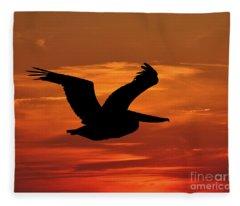 Pelican Profile Fleece Blanket