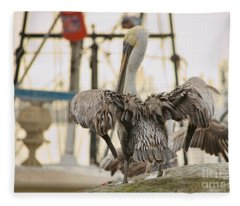 Pelican Strut Fleece Blanket