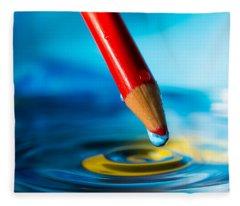 Pencil Water Drop Fleece Blanket