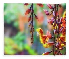 Pending Flowers Fleece Blanket