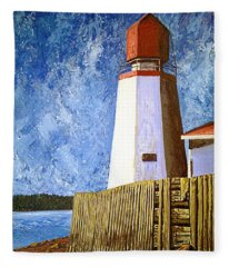 Pendlebury Lighthouse Fleece Blanket