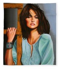 Penelope Cruz Fleece Blanket