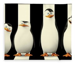 Penguins Of Madagascar Fleece Blanket