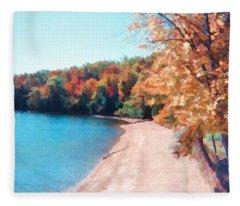 Pennsylvania Autumn 001 Fleece Blanket