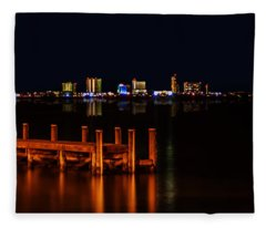 Pensacola Beach Reflections Fleece Blanket