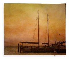 Pensacola Harbor Fleece Blanket